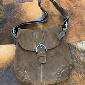 Coach Suede Shoulder Bag